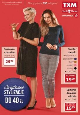 Gazetka promocyjna Textil Market - Świąteczne stylizacje
