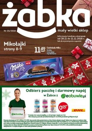 Gazetka promocyjna Żabka, ważna od 28.11.2018 do 11.12.2018.