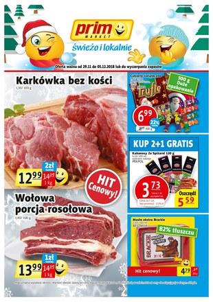 Gazetka promocyjna Prim Market, ważna od 29.11.2018 do 05.12.2018.