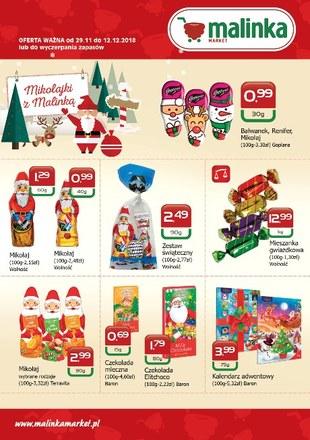 Gazetka promocyjna MALINKA Market, ważna od 29.11.2018 do 12.12.2018.