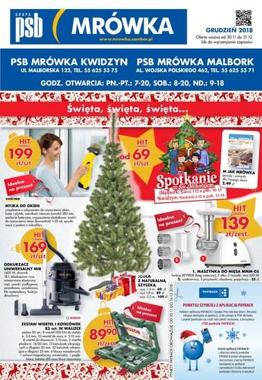 Gazetka promocyjna PSB Mrówka, ważna od 30.11.2018 do 31.12.2018.