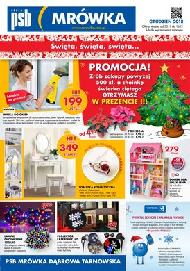 Gazetka promocyjna PSB Mrówka -  Święta, święta, święta - Dąbrowa