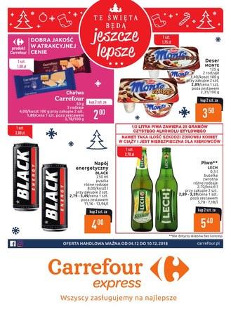Gazetka promocyjna Carrefour Express, ważna od 04.12.2018 do 10.12.2018.