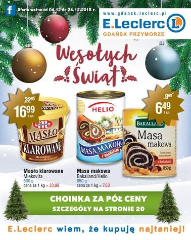 Gazetka promocyjna E.Leclerc, ważna od 04.12.2018 do 24.12.2018.