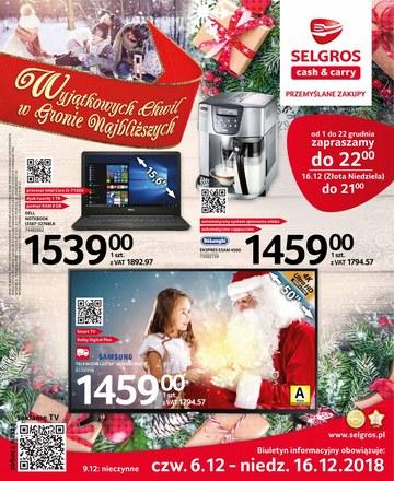Gazetka promocyjna Selgros Cash&Carry, ważna od 06.12.2018 do 16.12.2018.