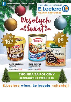 Gazetka promocyjna E.Leclerc - Wesołych Świąt - Gdańsk