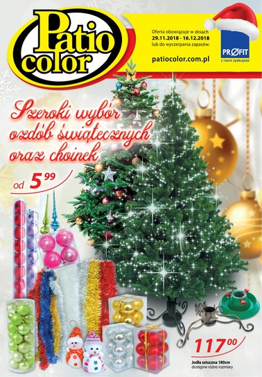 Gazetka promocyjna Patio Color, ważna od 29.11.2018 do 16.12.2018.