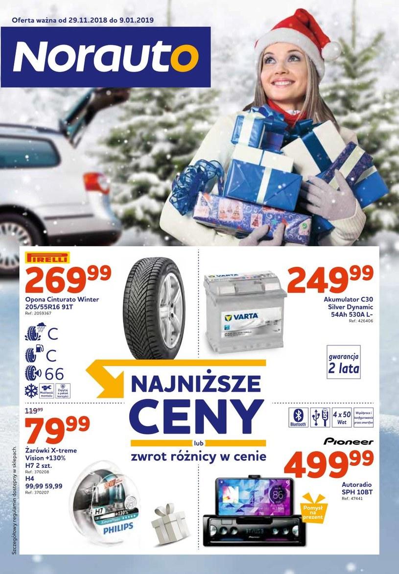 Gazetka promocyjna Norauto - ważna od 29. 11. 2018 do 09. 01. 2019