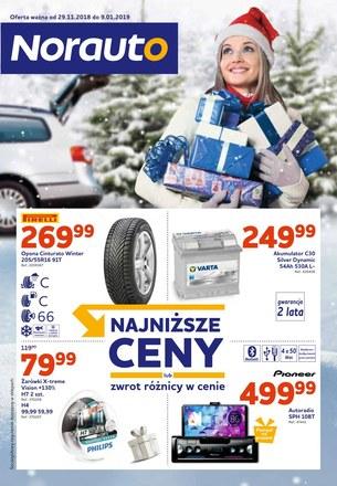 Gazetka promocyjna Norauto, ważna od 29.11.2018 do 09.01.2019.