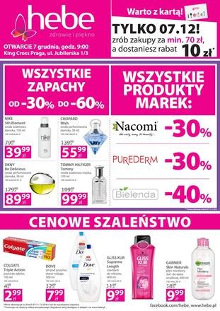 Gazetka promocyjna Hebe, ważna od 07.12.2018 do 11.12.2018.