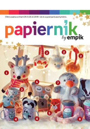 Gazetka promocyjna Papiernik by Empik, ważna od 28.11.2018 do 26.12.2018.