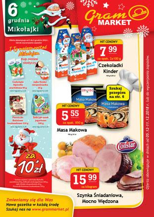 Gazetka promocyjna Gram Market, ważna od 05.12.2018 do 11.12.2018.