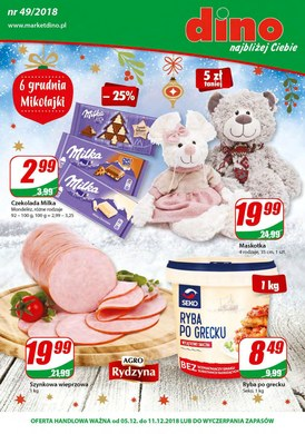 Gazetka promocyjna Dino - 6 grudnia Mikołajki