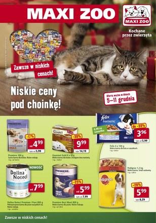 Gazetka promocyjna Maxi Zoo, ważna od 05.12.2018 do 11.12.2018.