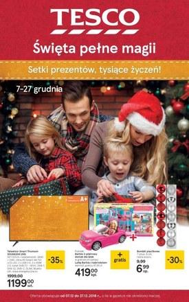 Gazetka promocyjna Tesco, ważna od 07.12.2018 do 27.12.2018.