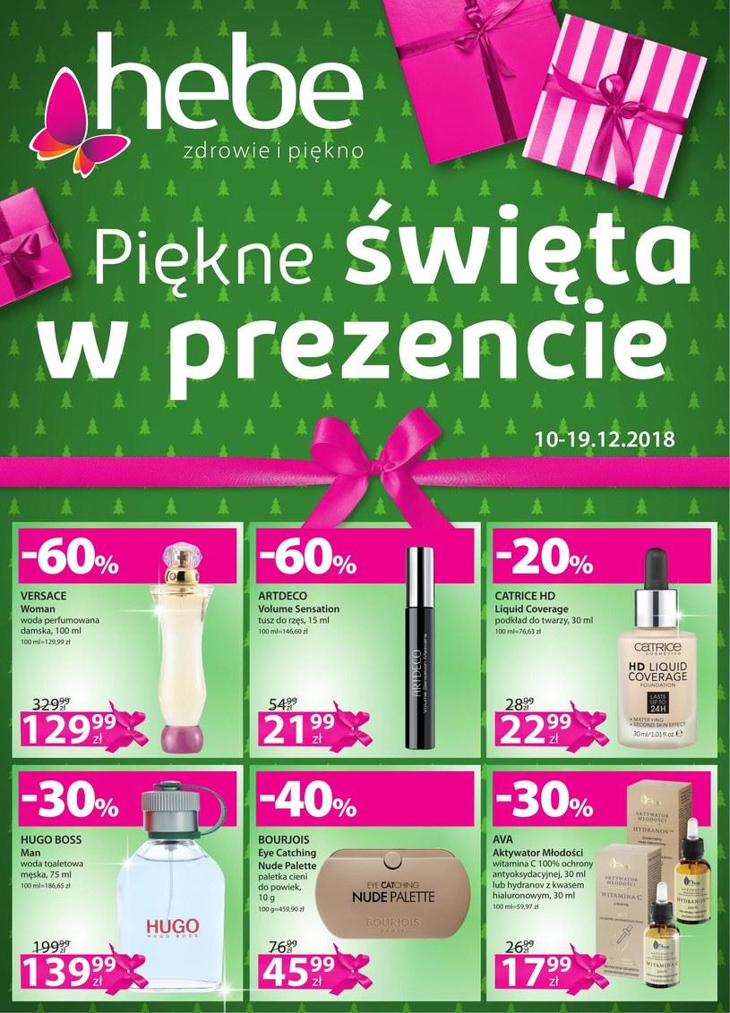 Gazetka promocyjna Hebe - ważna od 10. 12. 2018 do 19. 12. 2018