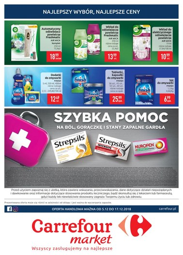 Gazetka promocyjna Carrefour Market, ważna od 05.12.2018 do 17.12.2018.