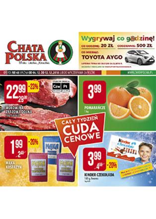 Gazetka promocyjna Chata Polska, ważna od 06.12.2018 do 12.12.2018.