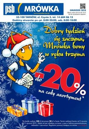 Gazetka promocyjna PSB Mrówka, ważna od 06.12.2018 do 12.12.2018.