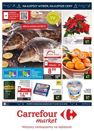Gazetka promocyjna Carrefour Market, ważna od 11.12.2018 do 16.12.2018.