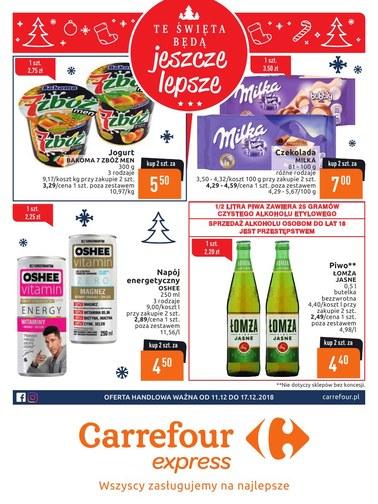 Gazetka promocyjna Carrefour Express, ważna od 11.12.2018 do 17.12.2018.