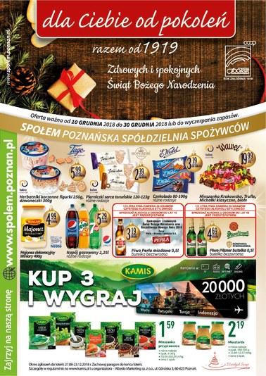 Gazetka promocyjna PSS Społem Poznań, ważna od 10.12.2018 do 30.12.2018.
