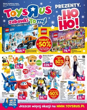 """Gazetka promocyjna Toys""""R""""Us, ważna od 07.12.2018 do 12.12.2018."""
