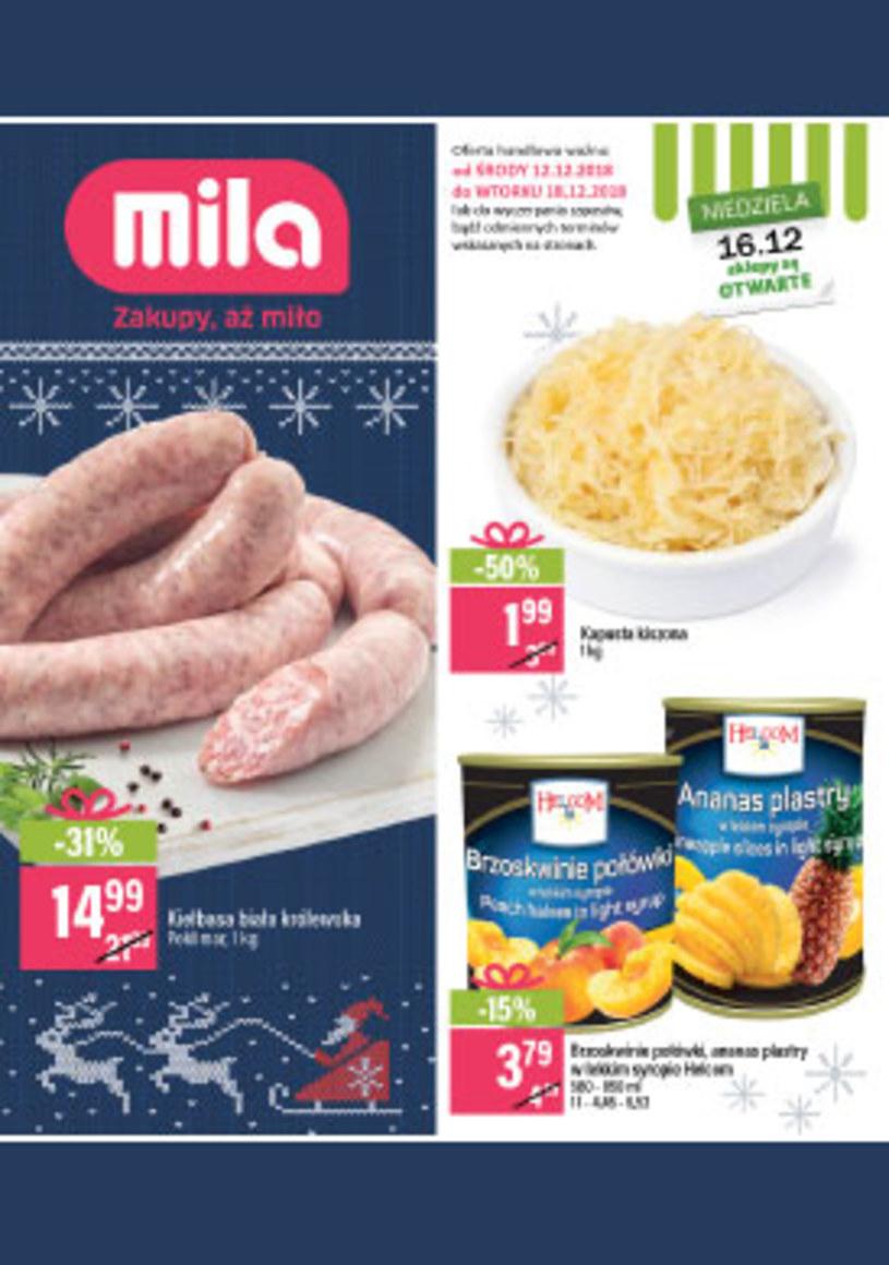 Gazetka promocyjna MILA - ważna od 12. 12. 2018 do 18. 12. 2018