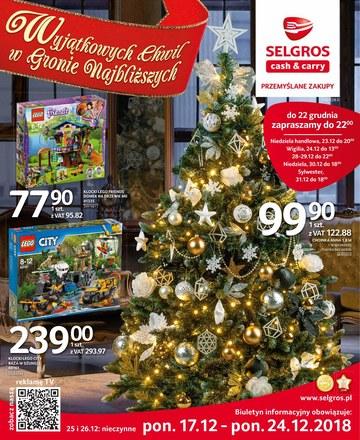 Gazetka promocyjna Selgros Cash&Carry, ważna od 17.12.2018 do 24.12.2018.