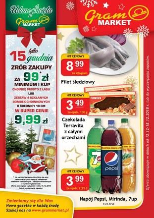 Gazetka promocyjna Gram Market, ważna od 12.12.2018 do 18.12.2018.
