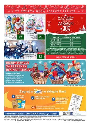 Gazetka promocyjna Rast, ważna od 11.12.2018 do 16.12.2018.