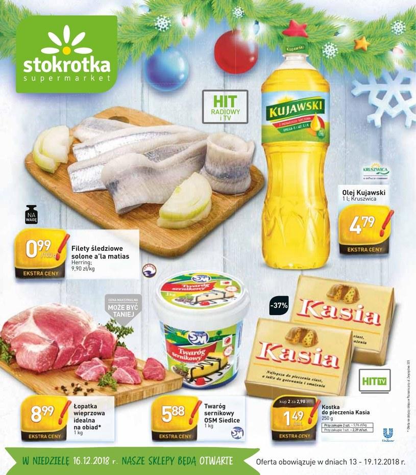 Gazetka promocyjna Stokrotka - ważna od 13. 12. 2018 do 19. 12. 2018