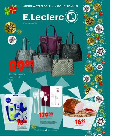 Gazetka promocyjna E.Leclerc, ważna od 11.12.2018 do 16.12.2018.