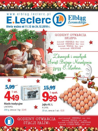 Gazetka promocyjna E.Leclerc, ważna od 11.12.2018 do 24.12.2018.