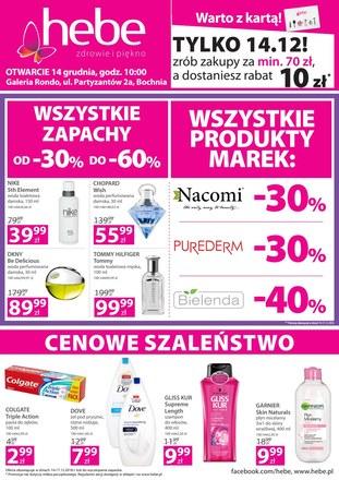 Gazetka promocyjna Hebe, ważna od 14.12.2018 do 17.12.2018.
