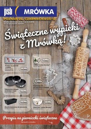 Gazetka promocyjna PSB Mrówka, ważna od 20.11.2018 do 31.12.2018.