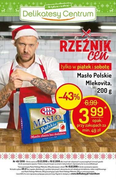 Gazetka promocyjna Delikatesy Centrum, ważna od 13.12.2018 do 19.12.2018.