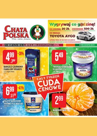 Gazetka promocyjna Chata Polska, ważna od 13.12.2018 do 19.12.2018.