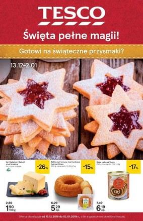 Gazetka promocyjna Tesco, ważna od 13.12.2018 do 02.01.2019.