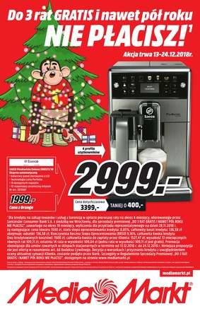 Gazetka promocyjna Media Markt, ważna od 13.12.2018 do 24.12.2018.