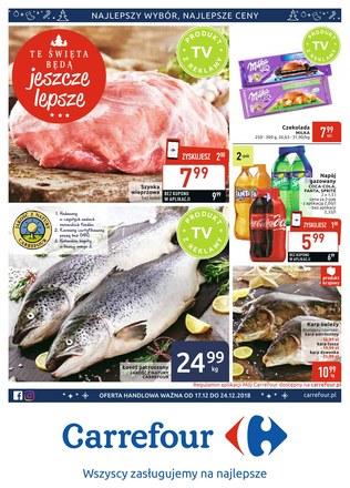 Gazetka promocyjna Carrefour, ważna od 17.12.2018 do 24.12.2018.