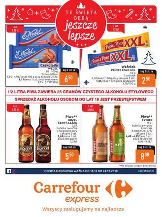 Gazetka promocyjna Carrefour Express, ważna od 18.12.2018 do 24.12.2018.
