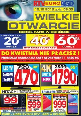 Gazetka promocyjna RTV EURO AGD - Wielkie otwarcie - Sokółka