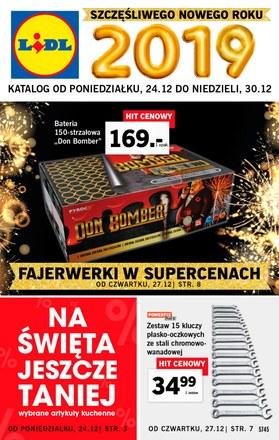 Gazetka promocyjna Lidl, ważna od 24.12.2018 do 30.12.2018.