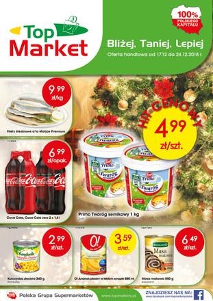 Gazetka promocyjna Top Market, ważna od 17.12.2018 do 24.12.2018.
