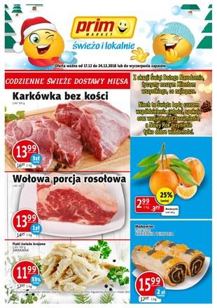 Gazetka promocyjna Prim Market, ważna od 17.12.2018 do 24.12.2018.