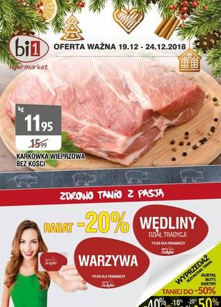 Gazetka promocyjna bi1, ważna od 19.12.2018 do 24.12.2018.