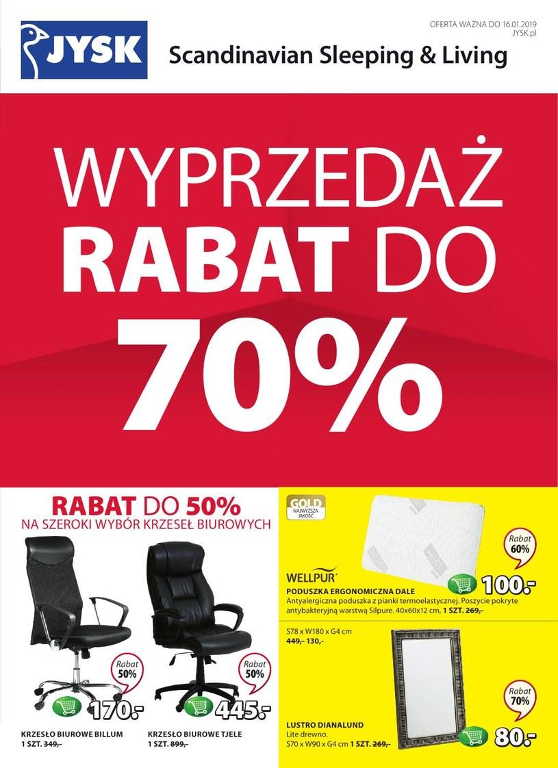 Gazetka promocyjna Jysk - ważna od 27. 12. 2018 do 16. 01. 2019