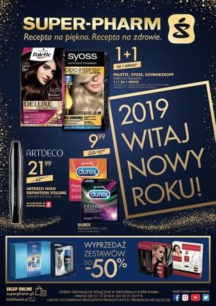Gazetka promocyjna Super-Pharm, ważna od 27.12.2018 do 02.01.2019.