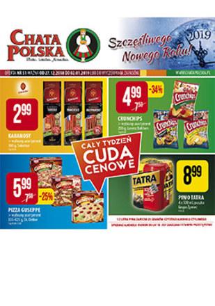 Gazetka promocyjna Chata Polska, ważna od 27.12.2018 do 02.01.2019.